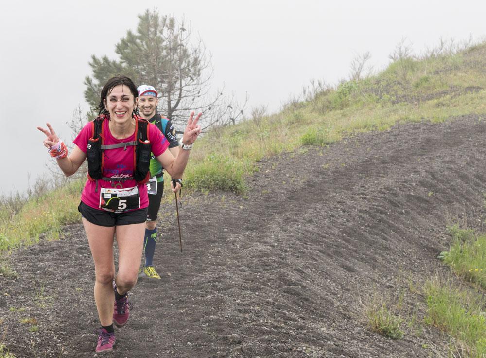 felicità all'arrivo della Vesuvio Ultra Marathon