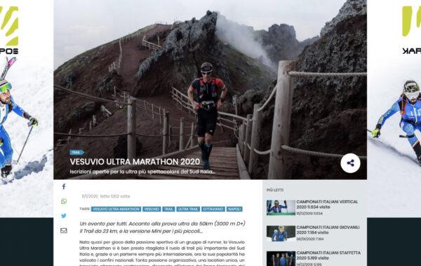 Vesuvio Ultra Marathon 2020 su Sportdimontagna.com